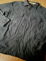 Northwest Territory Mens Medium Flannel Fleece Lined Long Sleeve Shirt Brown New