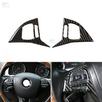 Carbon Fiber Steering Wheel Panel Switch Button Cover Trim For VW Touareg 11-18