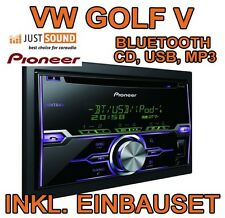 VW Golf 5 V - Pioneer BLUETOOTH, USB, MP3 - Autoradio Einbauset ANDROID APPLE