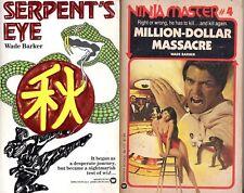 Lot of 2 NINJA MASTER Wade Barker Million-Dollar Massacre & Serpent's Eye PB