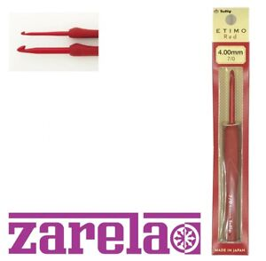 Tulip Etimo Red Crochet Hooks with Cushion Grip *SIZES 1.80mm - 6.5mm*