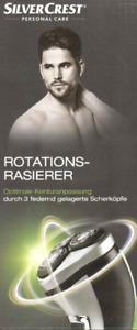 Rotationsrasierer für Herren Präzisionsschneidesystem mit Doppelring-Scherköpfen