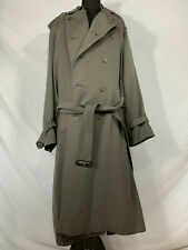Vintage Burberry Men 40 Reg, Trench Coat Double Breasted w Detachable Wool Liner