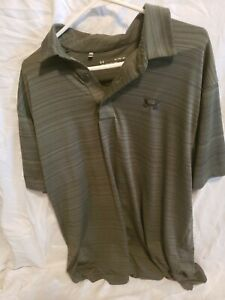 Mens Under Armour LOOSE XL Polo Golf Shirt Heatgear Used