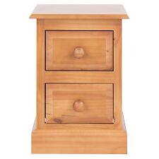 2 Drawer Bedside Cabinet Table Delphi Premium Solid Pine Bedroom Furniture