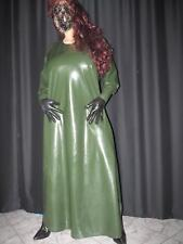 Latexkleid,Kleid,Gummibekleidung,Gummikleid,Regenbekleidung,Olive,XL,140 lg.