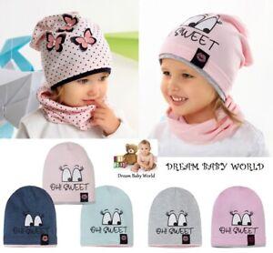 Rich cotton girls hat Beanie BABY 6-24 months 2-5 Years HAT KIDS Buttrerfly CAP