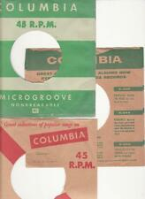 Columbia Records- 3 Original 1950's 45 Record Company Sleeves