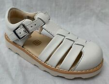BNIB Clarks Girls Crown Stem White Leather Air Spring Sandals F Fitting