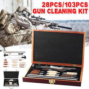 Pro Universal Gun Cleaning 103Pcs Tool Kit Pistol Rifle Shotgun Firearm Cleaner