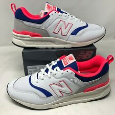 NWB New Balance Mens White Pink Laser Blue Color Block Shoes Sz 11 997H Sneakers