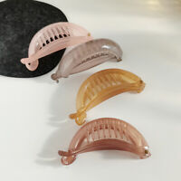 Cute Transparent Banana Clip Hair Claws Sweet Girls Ponytail Holder Hairpins