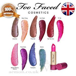 TOO FACED Throwback Metallic Sparkle Lipstick 6 colours amazing ORIGINAL