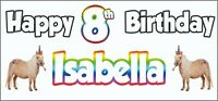 Horse Pony 8th Birthday Banner x 2 - Party Decorations - Personalised ANY NAME