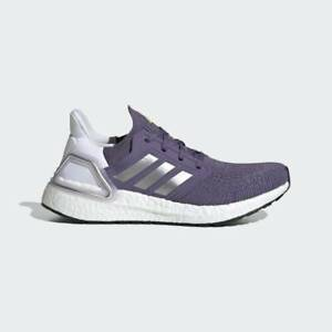 NEW Adidas Ultraboost 20 EG0718 Womens Running Shoes Tech Purple/Silver Metallic