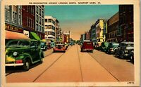 Washington Ave Street View Newport News VA Vintage Postcard BB1