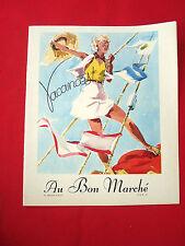 MODE FASHION COUTURE PRET A PORTER Catalogue AU BON MARCHE 1937