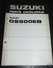 99000-93400 SUZUKI catalogo ricambi GS 500 EB