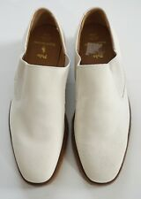RARE POLO RALPH LAUREN Off-White Suede BENCH MADE Loafer Shoes 11.5D ENGLAND