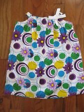 RimZim Graphic Pattern Pillowcase Dress Flowers and Circles Size 6-12 Mths NWT