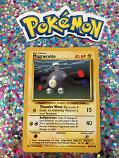 �� Magnemite Base Set Pokemon Card Wizards WotC Game Freak Nintendo 1999 �