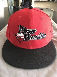Quad Cities River Bandits New Era 5950 Fitted Hat Cap Size 7 1/4 NWT MiLB