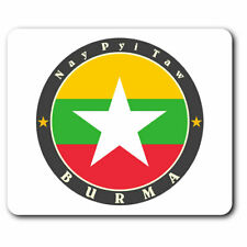 Computer Mouse Mat - Burma Nay Pyi Taw Burmese Flag Office Gift #5635
