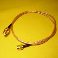 SMA female Bulkhead Pigtail Cable to SMA male 500mm Coaxial Fly Lead RG316 AC