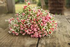 6 x ARTIFICIAL PALE / MID PINK GYPSOPHILA SPRAYS  WIRED STEMS 28cm