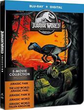 JURASSIC WORLD - 5 MOVIE COLLECTION (STEELBOOK) -  Blu Ray - Sealed Region free