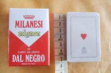 Milanesi mignon 40 carte da gioco Dal Negro scopa briscola collezionismo cards