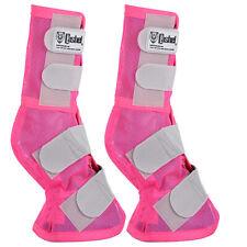 Cashel Fly Prevention Arab Horse Leg Guard Cool Mesh Boots Pink U-A-Pk