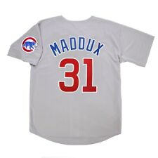 Greg Maddux Chicago Cubs Grey Road Jersey w/ Team Patch Men's (M-2XL)
