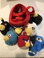Angry birds Mixed Plush Lot Of 6 Stuffed Animal Toy Plush Busket