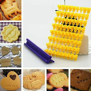 Biscuit Cookie Alphabet Letter Numbers Stamp Embosser Mold Cake Decorating