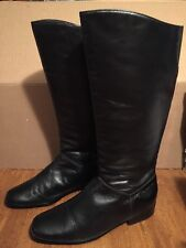 WORTHINGTON Supple black tall riding boots Women's size 7 1/2M leather upper