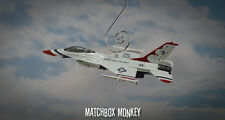 F-16 Falcon USAF Thunderbirds Christmas Ornament Top Gun Airplane Jet Aircraft