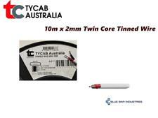 2mm Twin Core Tinned Wire x 10m Copper Marine Grade Twin Sheath Boat Car Trailer