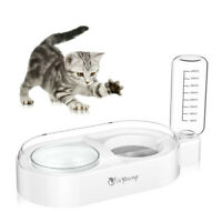 Double Dog Cat Bowls Water Food Bowl Set Automatic Water Dispenser Feeder