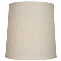 Allen Roth 14-in x 14-in Natural Fabric White Transitional Drum Lamp Shade Large