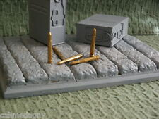 1/6 scale 2 cm 20mm German Flak rounds Solid Brass A.P. round lot of 5