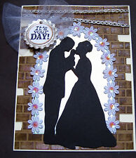 Wedding - silhouette couple - handmade card BY DEE