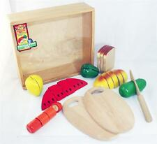 MELISSA AND DOUG wooden toys CUTTING FOOD BOX 29 pcs VERY GOOD condition