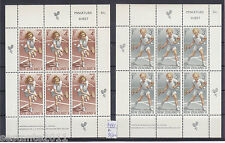 NUOVA ZELANDA, NEW ZEALAND , Y.  BL. 34 / 35, BAMBINI CHILD TENNIS, MNH**,  B130