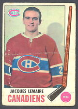 1969 70 OPC O PEE CHEE 8 JACQUES LEMAIRE CANADIENS VG