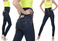 Women's Jeans Top Clubbing Ladies Skinny High Waisted Trouser Size 6 8 10 12 14