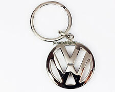 New Chrome Metal VW key chain keyring Volkswagen polo golf