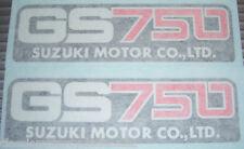 SUZUKI GS750 GS750A GS750B GS750D SIDE PANEL DECALS