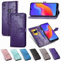 For Huawei Honor 8A Y9 Y7 Y6 Y5 Y3 Mandala Leather Flip Stand Card Wallet Cover