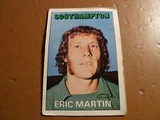 A & A.C. Chicle Fútbol Tarjeta 1972/73 Rojo Naranja atrás 3 Eric Martin Southampton